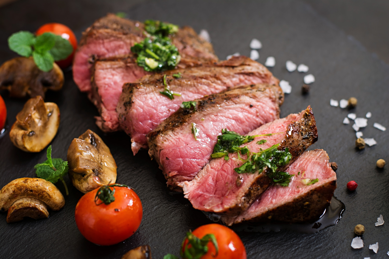 juicy-steak-medium-rare-beef-with-spices-and-grilled-vegetables